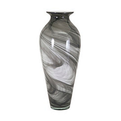 Marbleized Gray Glass Vase