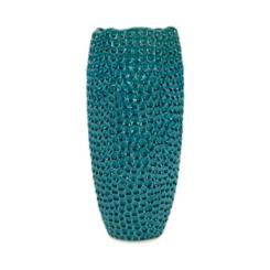 Blue Isaac Ceramic Vase, 19.5 in.
