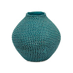 Blue Isaac Ceramic Vase, 12 in.