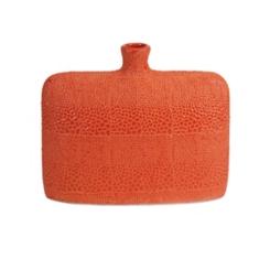 Orange Isla Crackle Vase, 9.5 in.