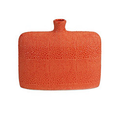 Orange Isla Crackle Vase, 9.5 in.