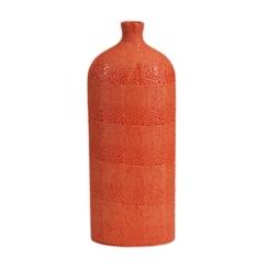 Orange Isla Crackle Vase, 20 in.