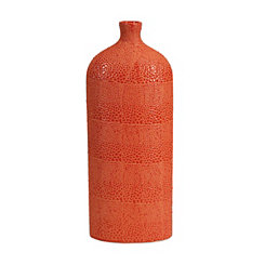 Orange Isla Crackle Vase, 20 in.
