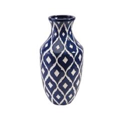 Blue Maine Ceramic Vase, 18 in.