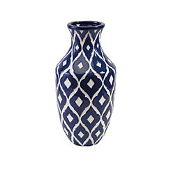 Blue Maine Ceramic Vase, 18 in.
