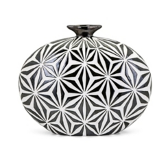 Amrita Geometric Vase, 15 in.