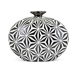 Amrita Geometric Vase, 15 in.