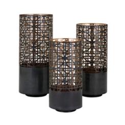 Black Modi Cutout Candle Holders, Set of 3