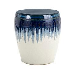 Hamako Blue Drip Glaze Ceramic Garden Stool