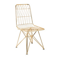 Larkin Gold Metal Chair