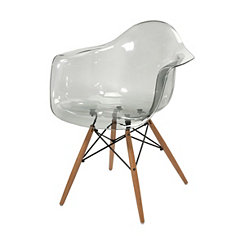 Beckett Transparent Gray Accent Chair