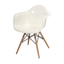 Arturo White Acrylic Accent Chair