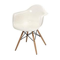 Arturo White Acrylic Accent Chair
