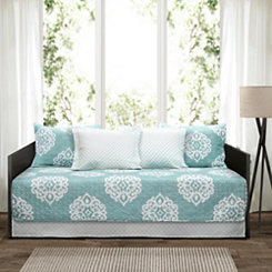 Blue Damask 6-pc. Daybed Set