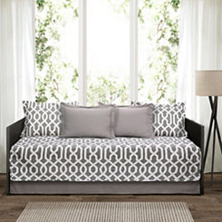 Gray Trellis 6-pc. Daybed Set