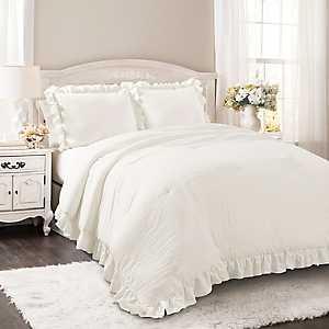 White Riley 3-pc. Full/Queen Comforter Set