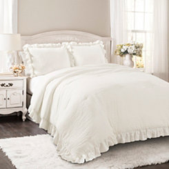 White Riley 3-pc. Full/Queen Comforter Set