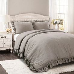 Gray Riley 3-pc. Full/Queen Comforter Set