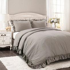 Gray Riley 3-pc. Full/Queen Comforter Set