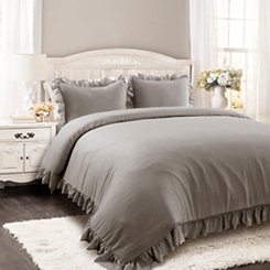 Gray Riley 3-pc. King Comforter Set
