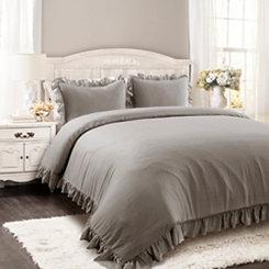 Gray Riley 3-pc. King Comforter Set