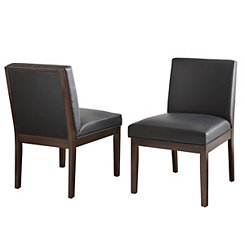 Emerson Bonded Leather Parsons Chairs, Set of 2