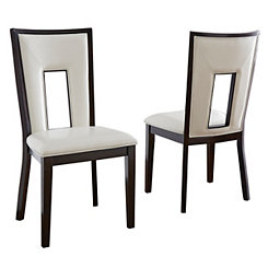 Daxel White Upholstered Dining Chairs, Set of 2