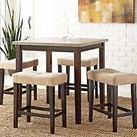 Abby Light Gray Driftwood Top 5-pc. Dining Set