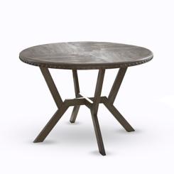 Round Gray Amalise Dining Table
