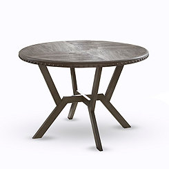 Round Gray Amalise Dining Table