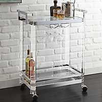 Arlo Chrome and Glass Serving Cart