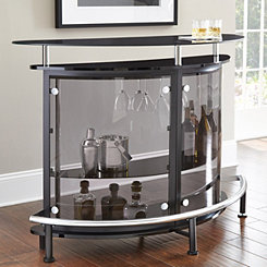 Black and Chrome Avery Bar Table