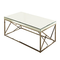 Ellis Copper Chrome Mirrored Coffee Table
