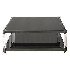 Nikos Black Glass Coffee Table