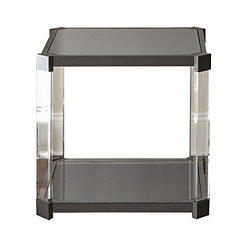 Nikos Black Glass Accent Table