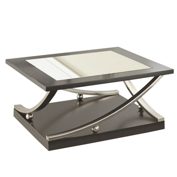 ... Rykan Square Black Mirrored Coffee Table ...