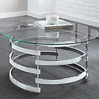 Thompson Chrome and Glass Coffee Table
