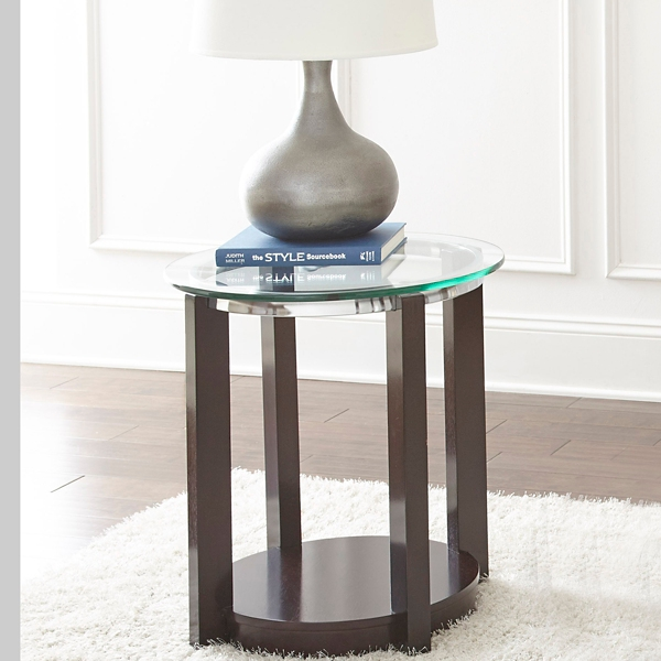 ... Carlos Wood And Glass Accent Table ...