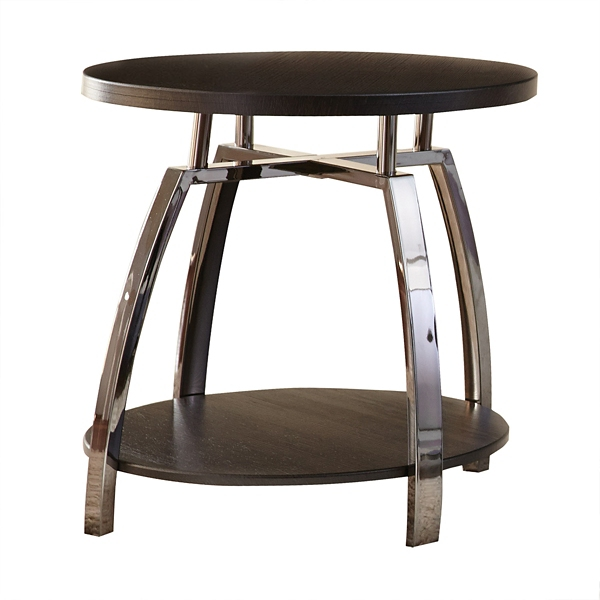 ... Colin Faux Wood And Metal Accent Table ...