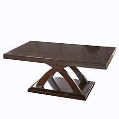 Jillian Dark Brown Wood Cocktail Table