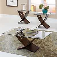 Charlene Oak 3-pc. Coffee and Accent Table Set