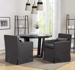 Matte Black X Base Dining Table