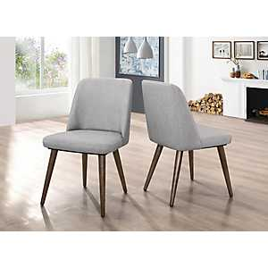 Modern Gray Dining Chairs, Set of 2