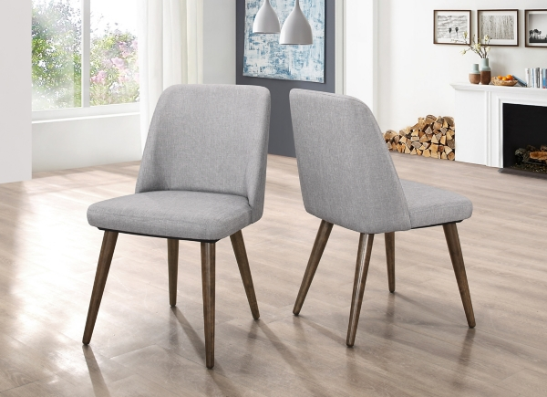 modern gray dining chairs set of 2