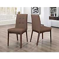 Mid-Century Brown Dining Chairs, Set of 2
