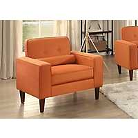 Modern Button Tufted Orange Accent Chair