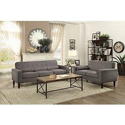 Gray Mid-Century Modern Sofa