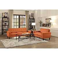 Orange Mid-Century Modern Sofa
