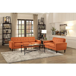 Orange Mid-Century Modern Sofa