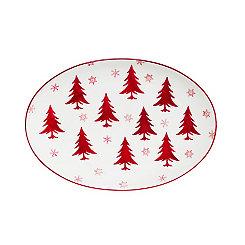 Winterfest Oval Serving Platter